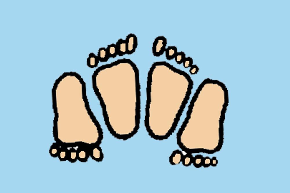 voeten samen